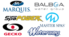 Hot Tub parts brands logos stocked